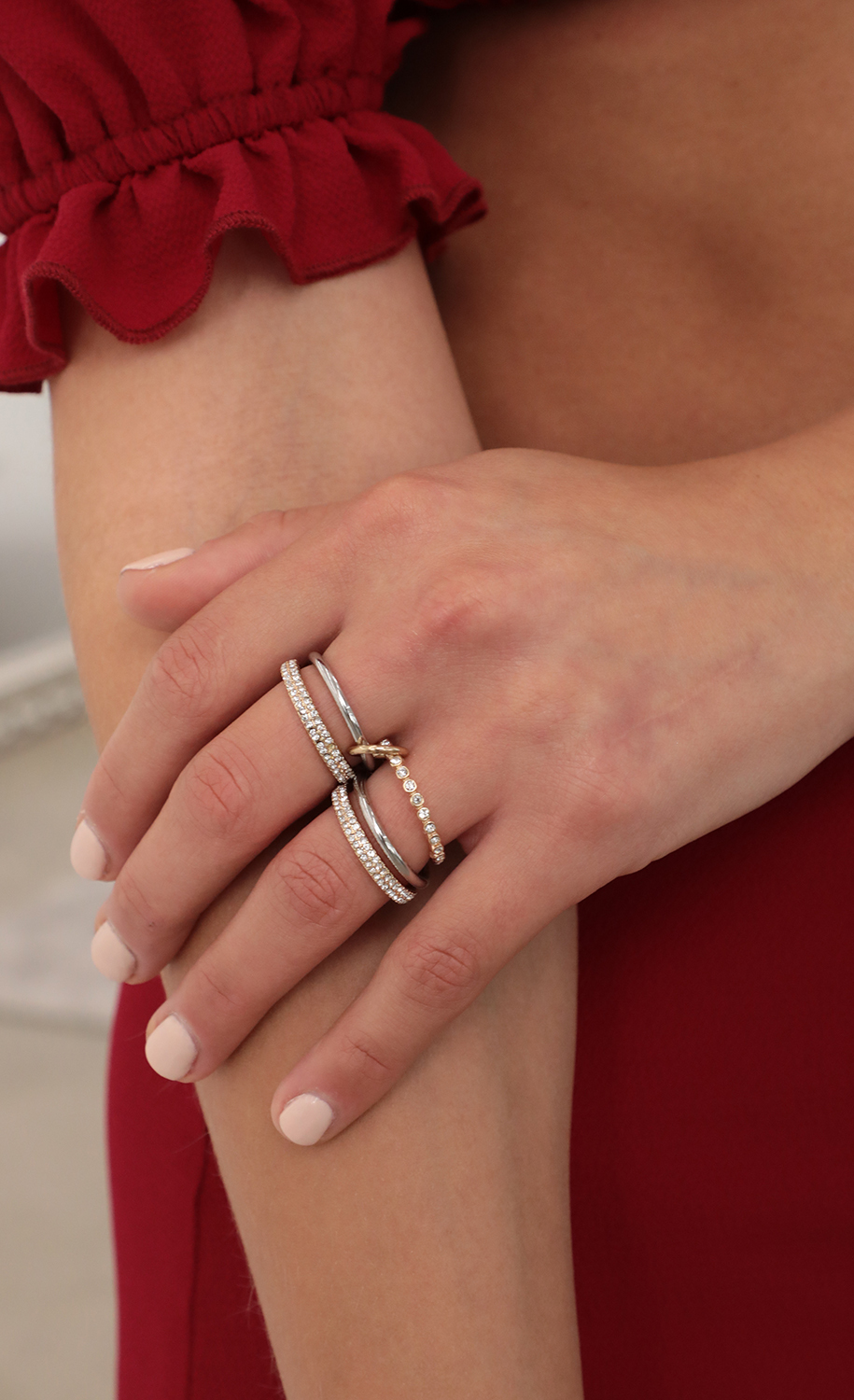Galaxy Set Rings in Gold and Silver