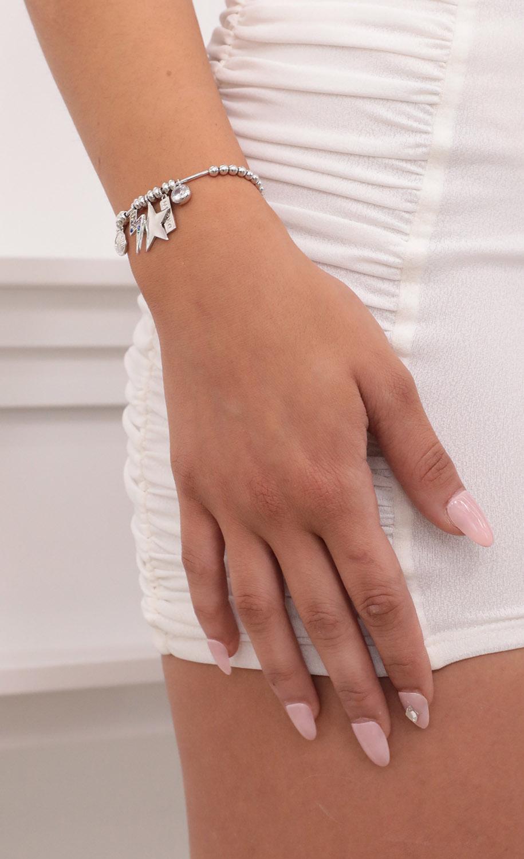 Dream Big Charm Bracelet in Silver
