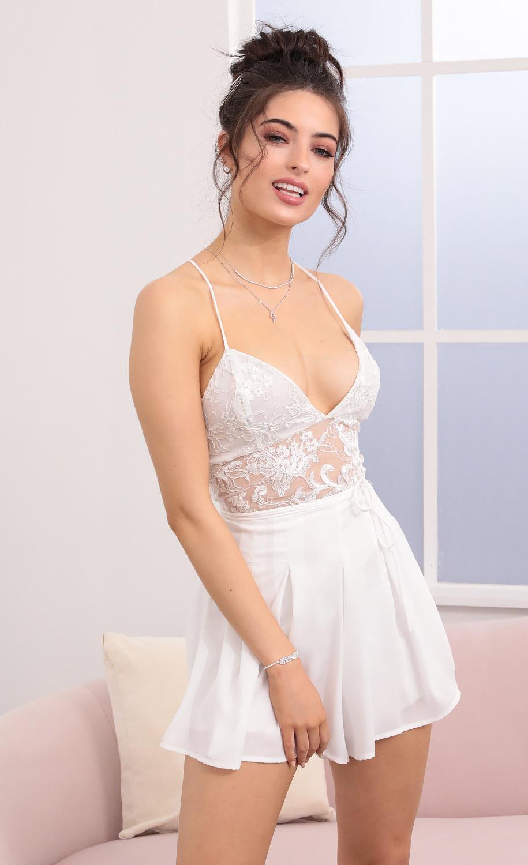 Giovanna White Lace Romper