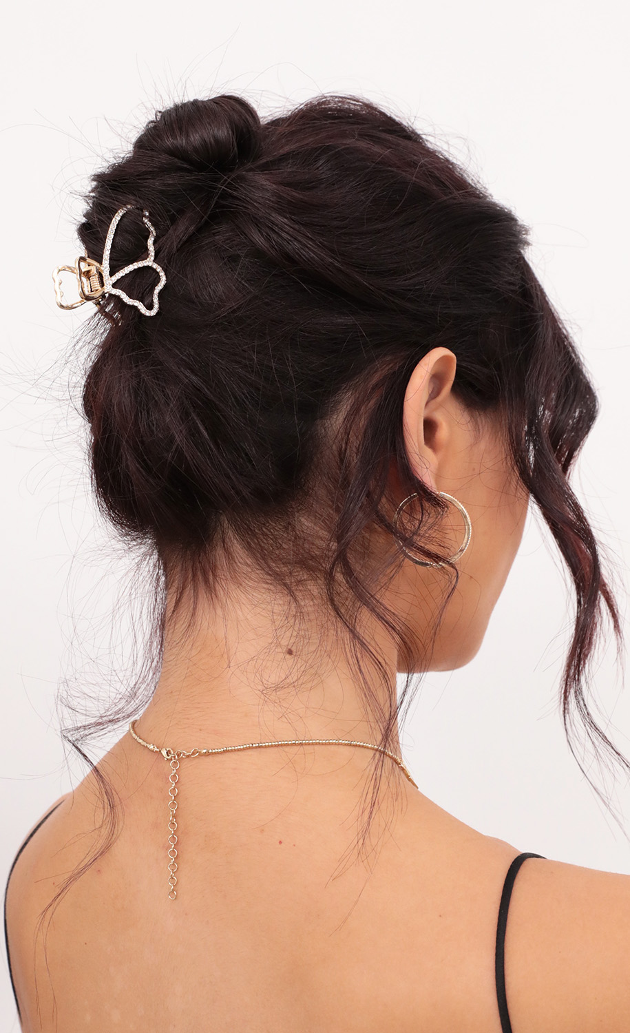 Butterfly Baby Gold Clip