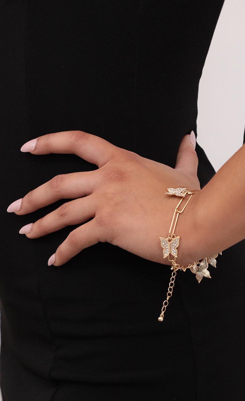 Fly Away Butterfly Bracelet in Gold