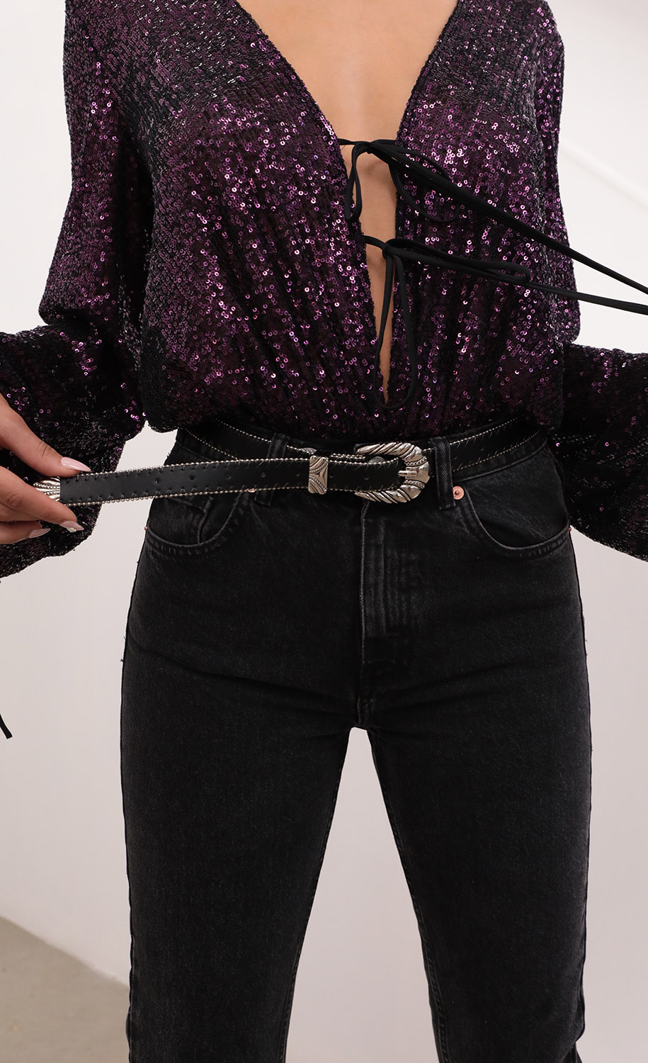 Boho Belt in Black