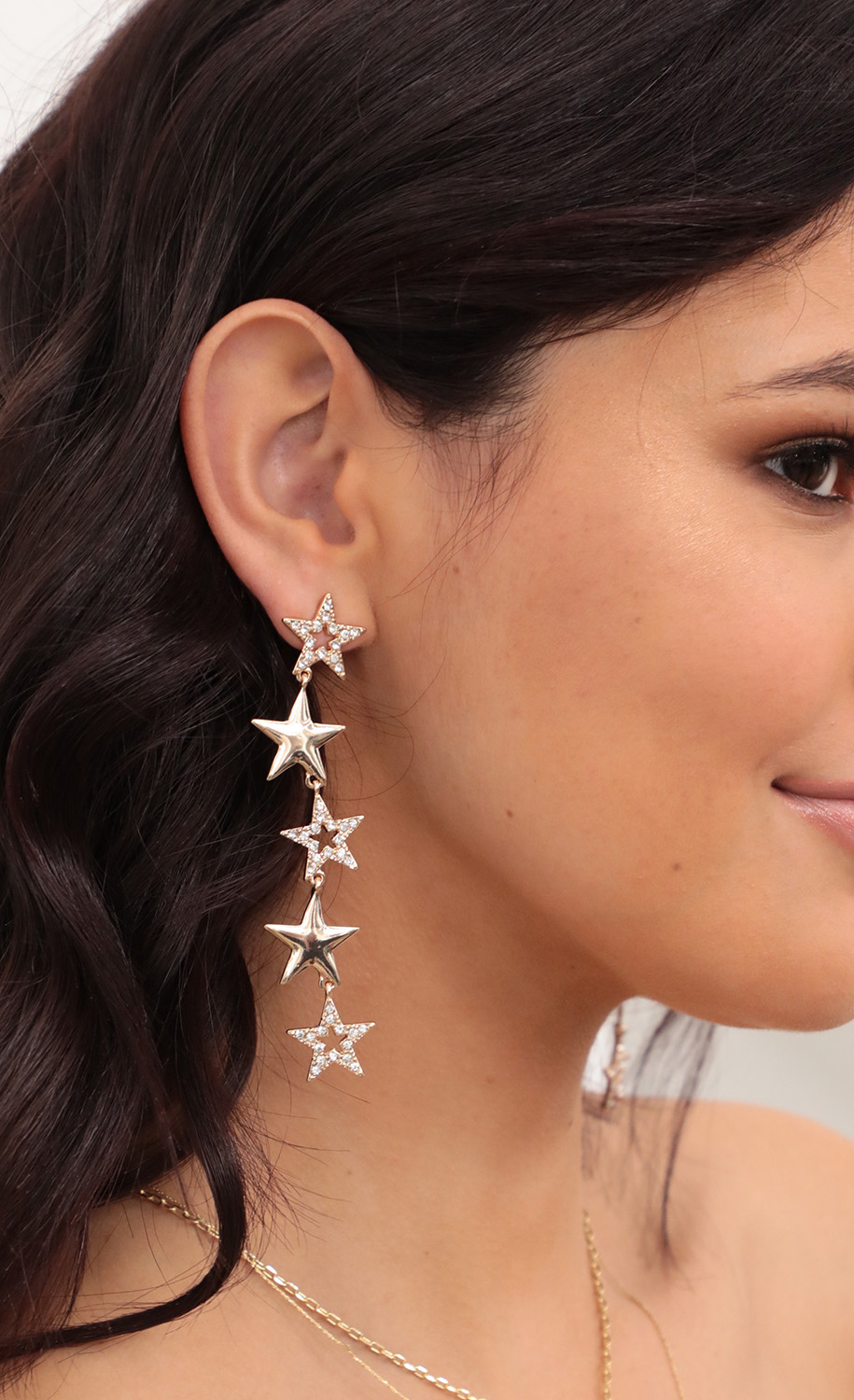 Time to Shine Star Earrings in Rose Gold