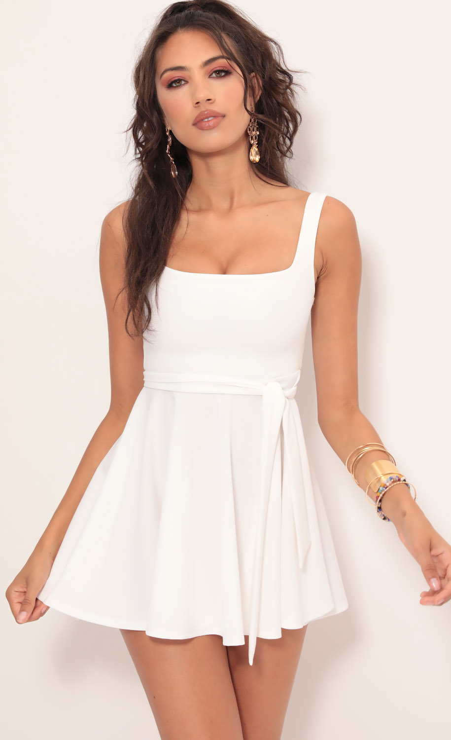 Key West A-line Dress in White
