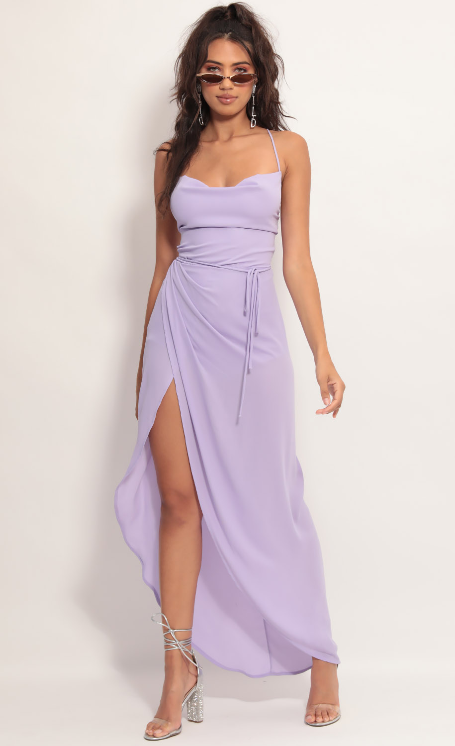 Chiffon Luxe Maxi Dress in Lavender