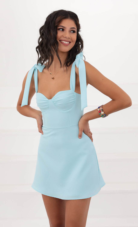 Neila Dress in Aqua
