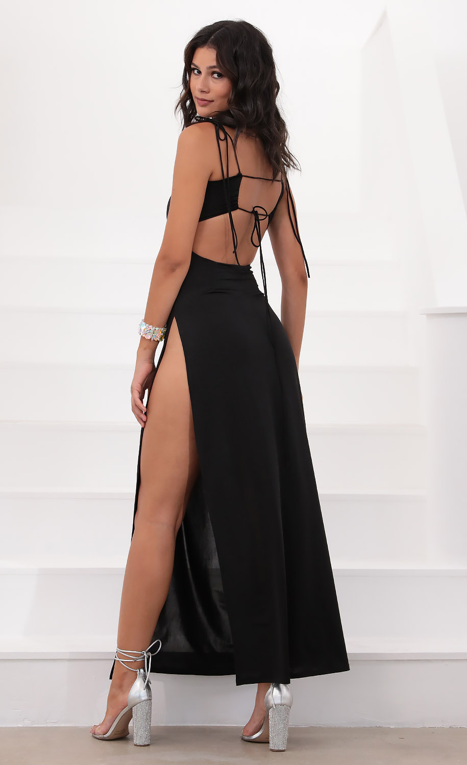Marlena Ties Maxi in Black