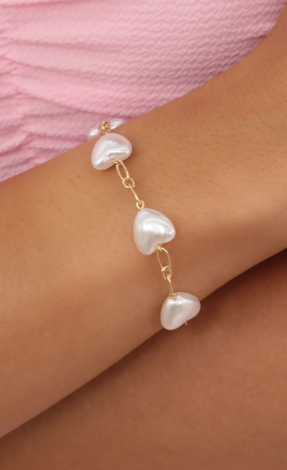 All The Pearl Love Bracelet in Gold