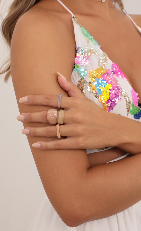 Pastel Desires Acrylic Ring Set