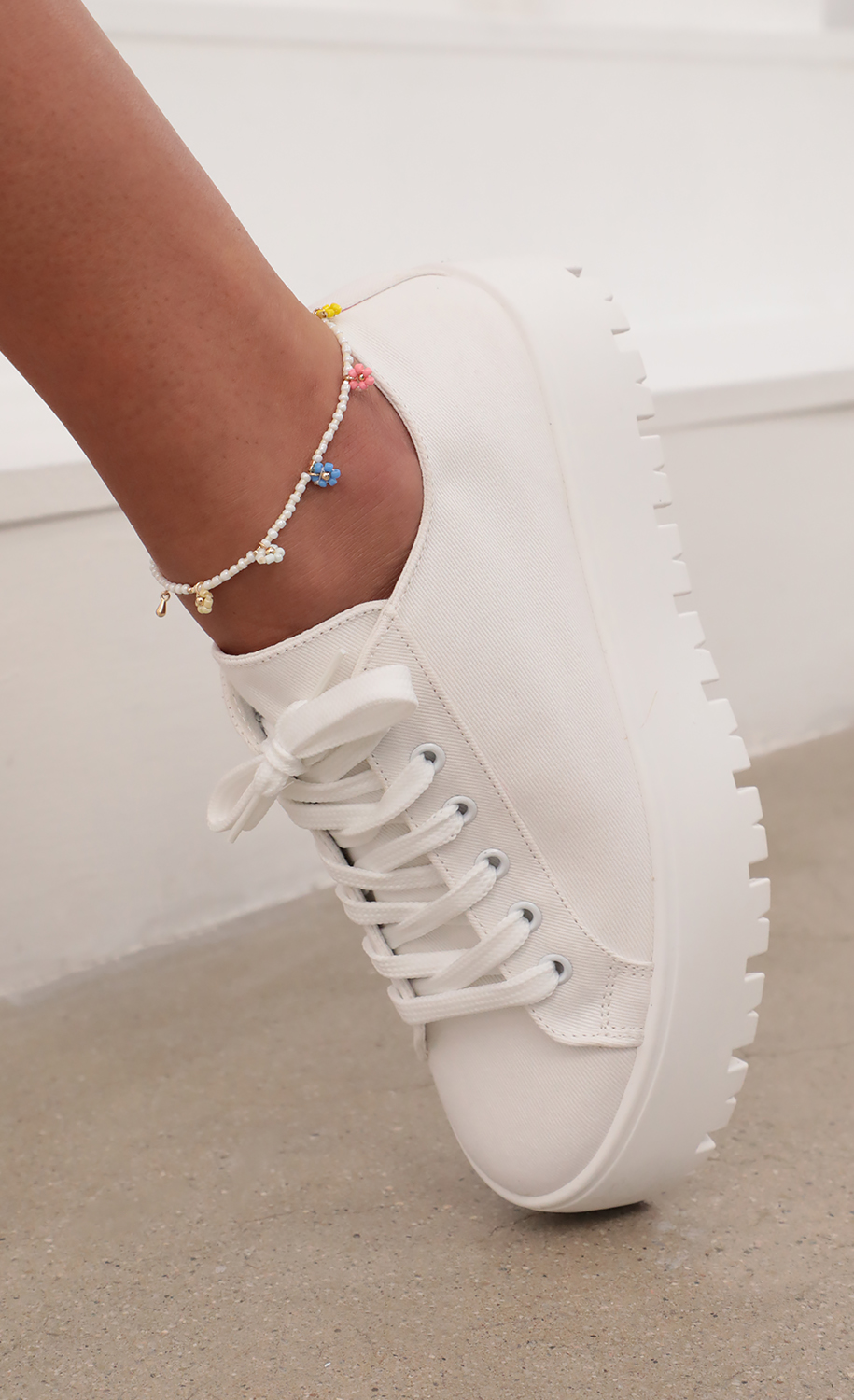 Floral Bliss Beaded Anklet