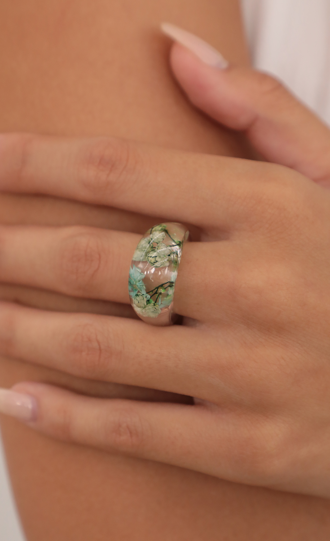 Floating Petals Acrylic Ring
