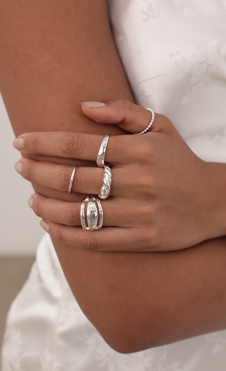 Ainsley Ring Set in Silver