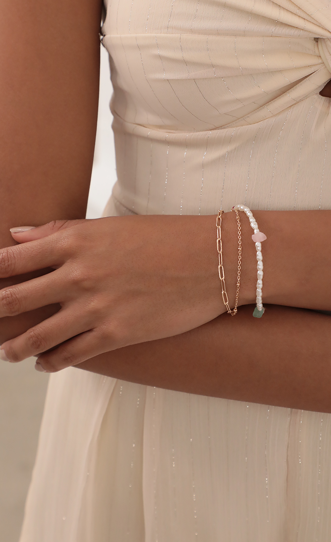 Ava Pearl Bracelet Set