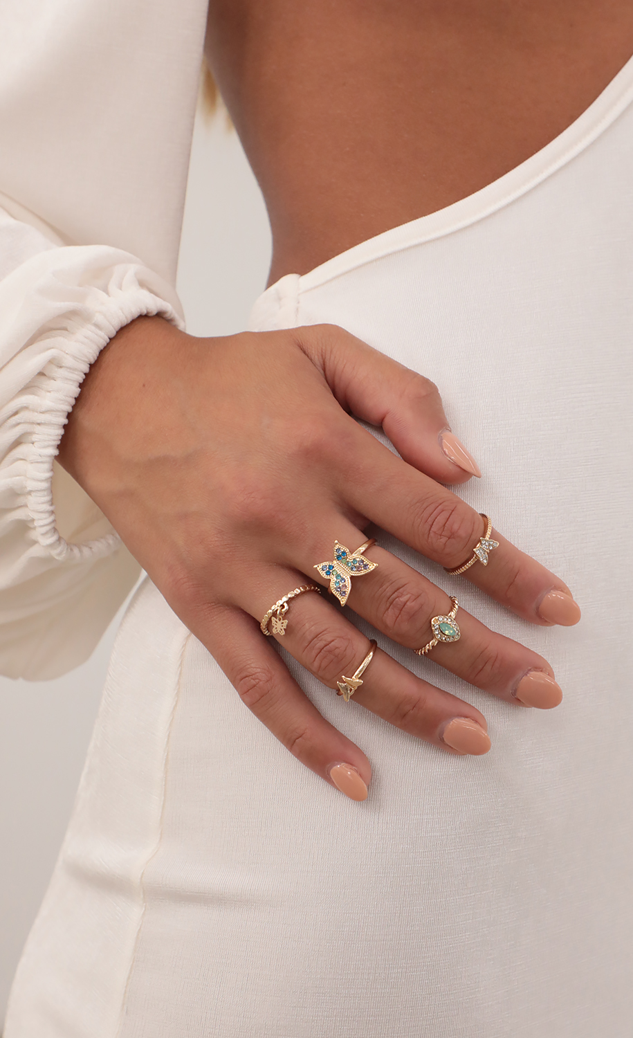 Run Away With Me Ring Set in Gold