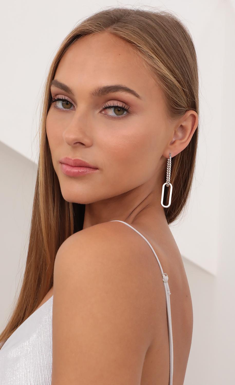 Forever Linked Earrings in Silver