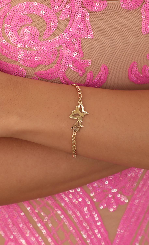 Double Butterfly Bracelet in Gold