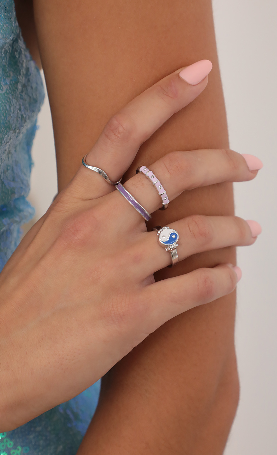 Ying To My Yang Ring Set in Silver