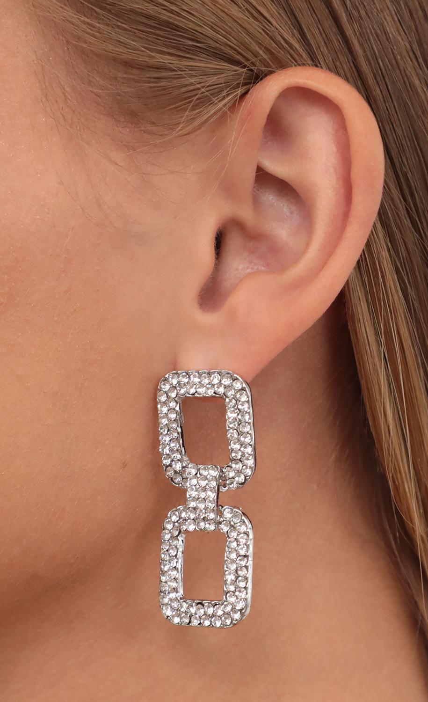 Crystal Dreams Rectangle Earrings