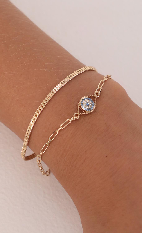 Keep Me Safe Bracelet Set in Gold