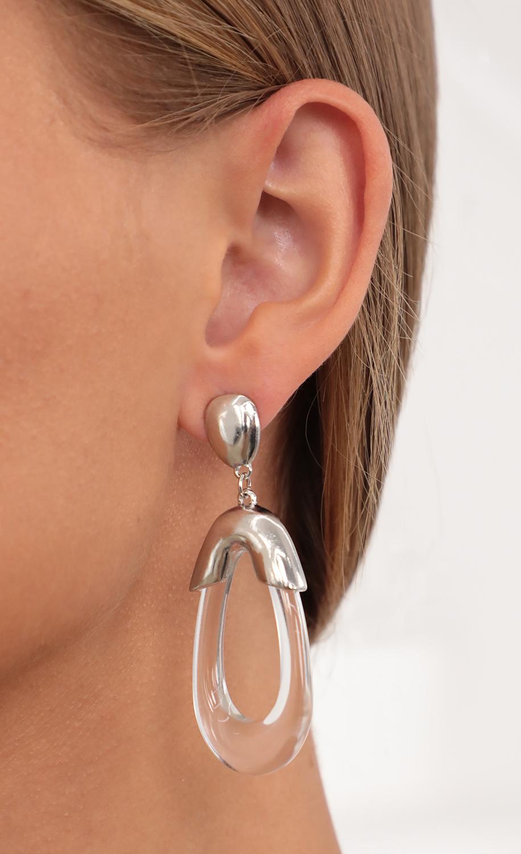 Tell Me About It Acrylic Tear Drop Earring