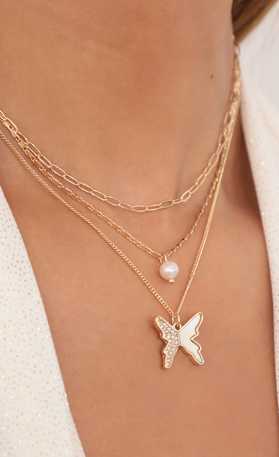 Give Me Wings Layered Necklace