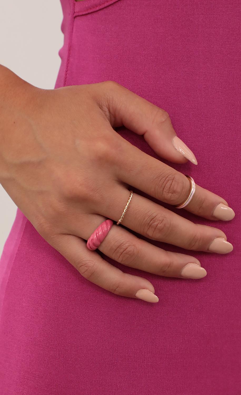 Pink Like Me Ring Set