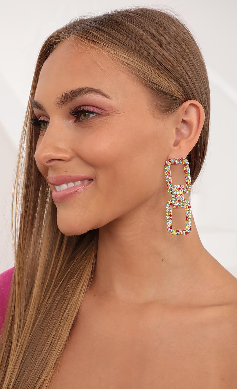 Disco Diva Multi Colored Earrings