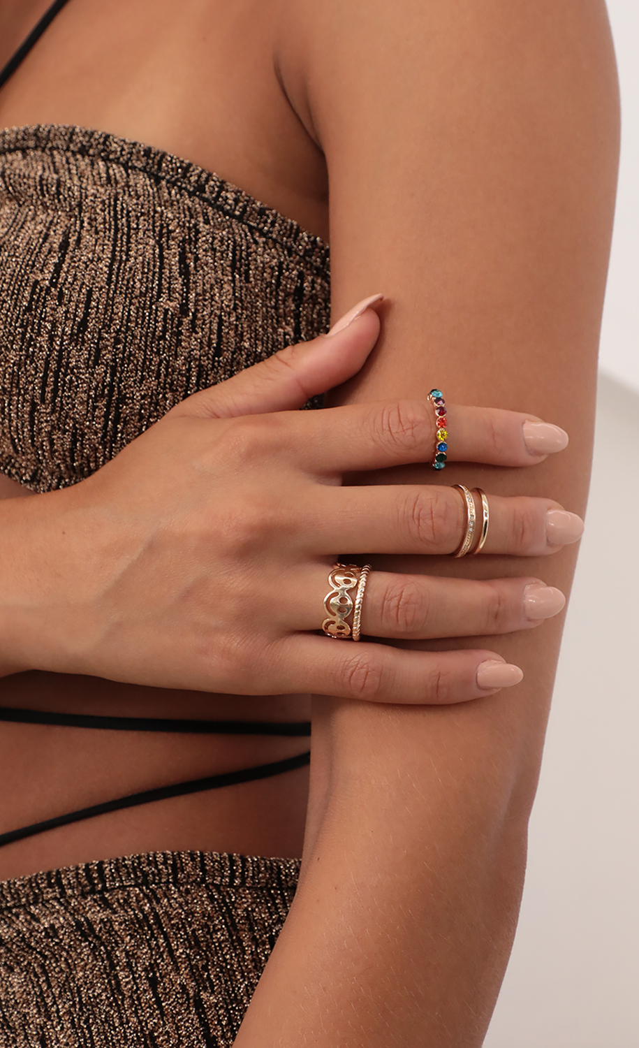 Smile Bright Ring Set in Gold