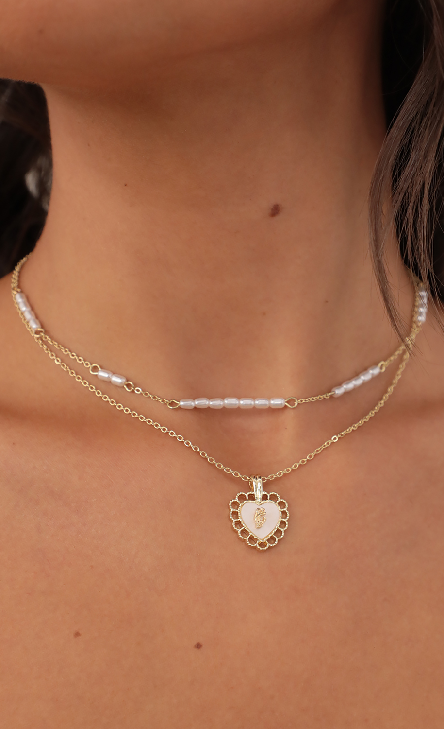 Eloise Layered Necklace in Gold