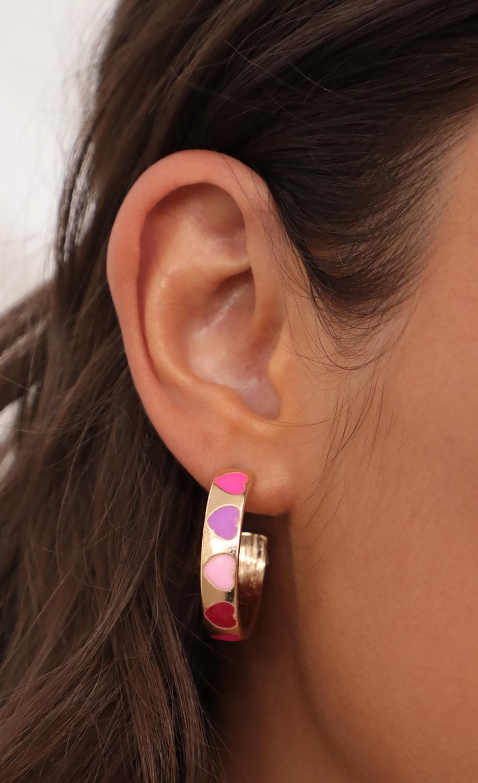 Miss Valentine Flat Hoop Earrings in Gold