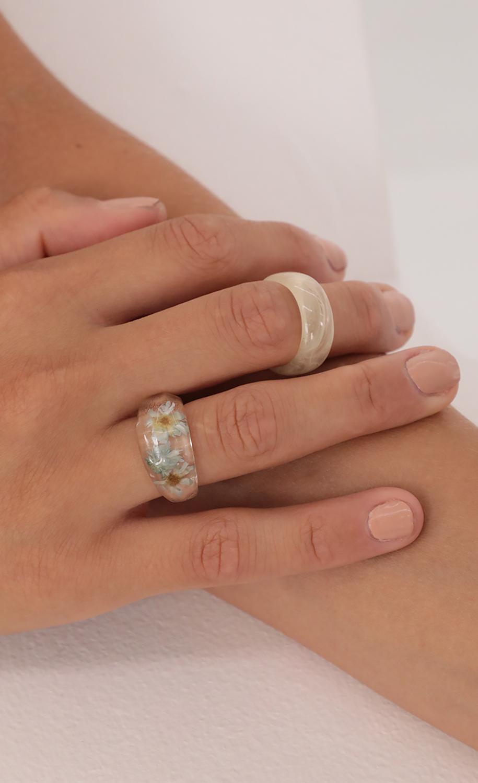 Fresh Petals Acrylic Ring Set