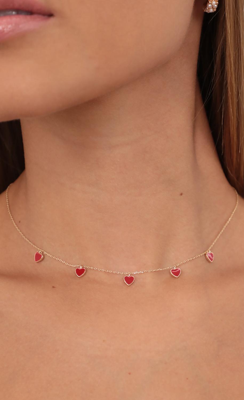 Heart Breaker Necklace in Gold