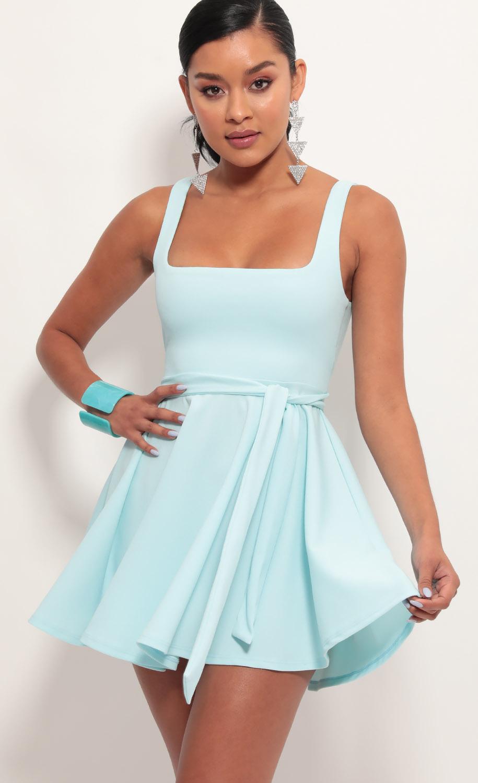 Key West A-line Dress in Aqua Blue