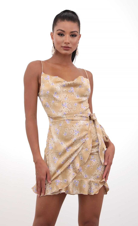 Positano Chiffon Tie Dress in Cheetah