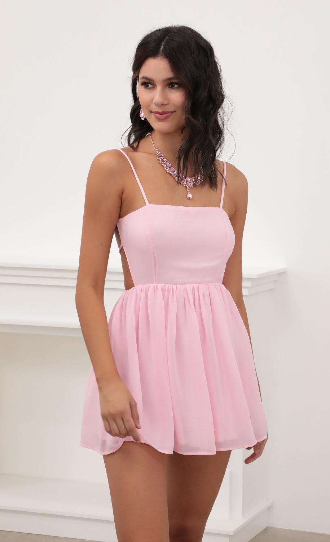 Jalissa A-line Dress in Light Pink