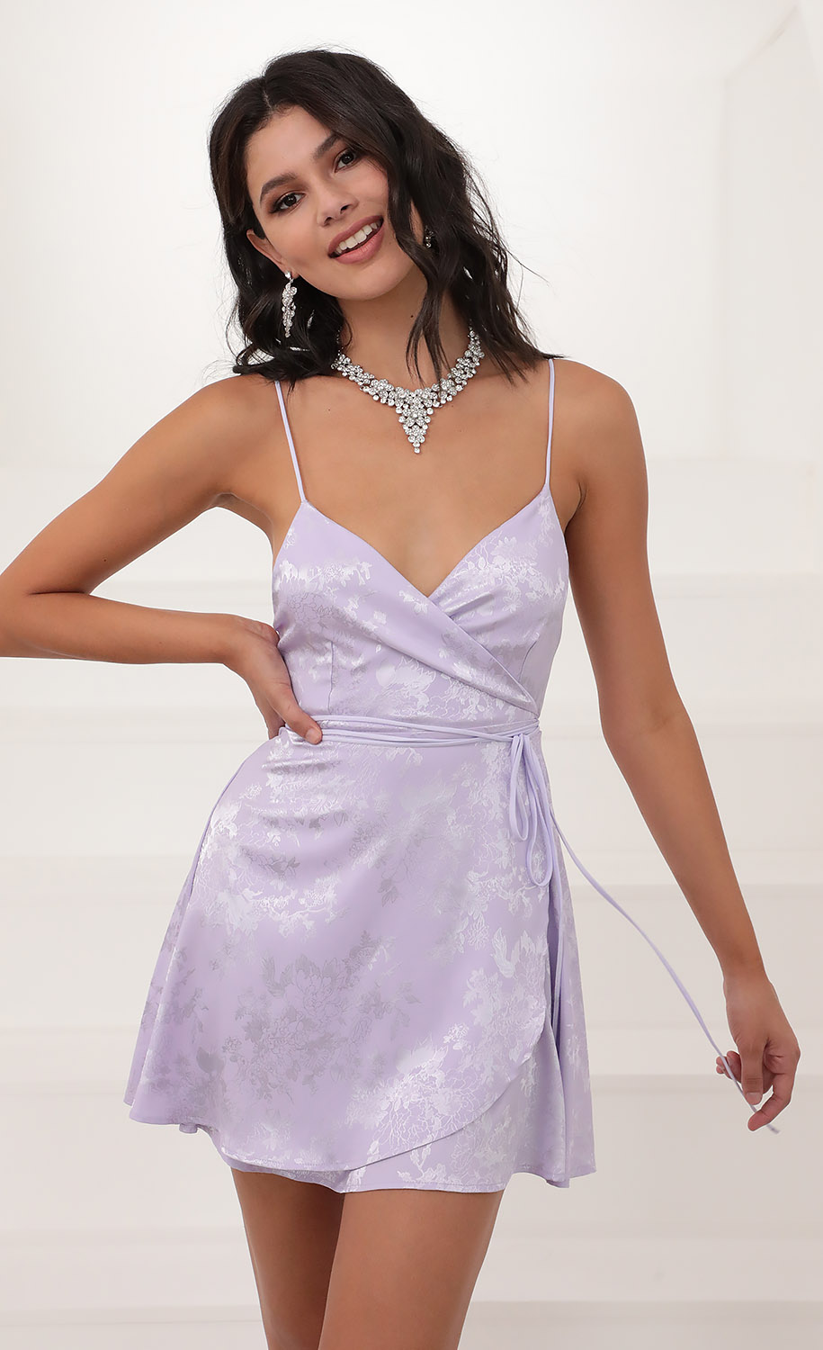 Charlotte A-Line Dress in Lilac