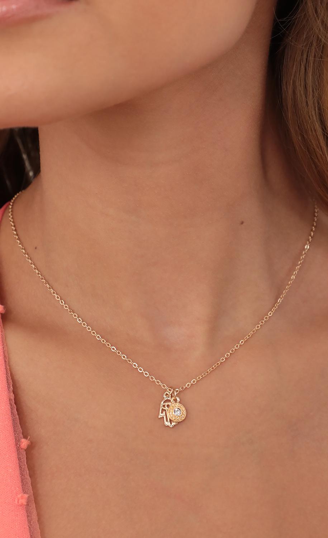 Hamsa Hand Gold Necklace