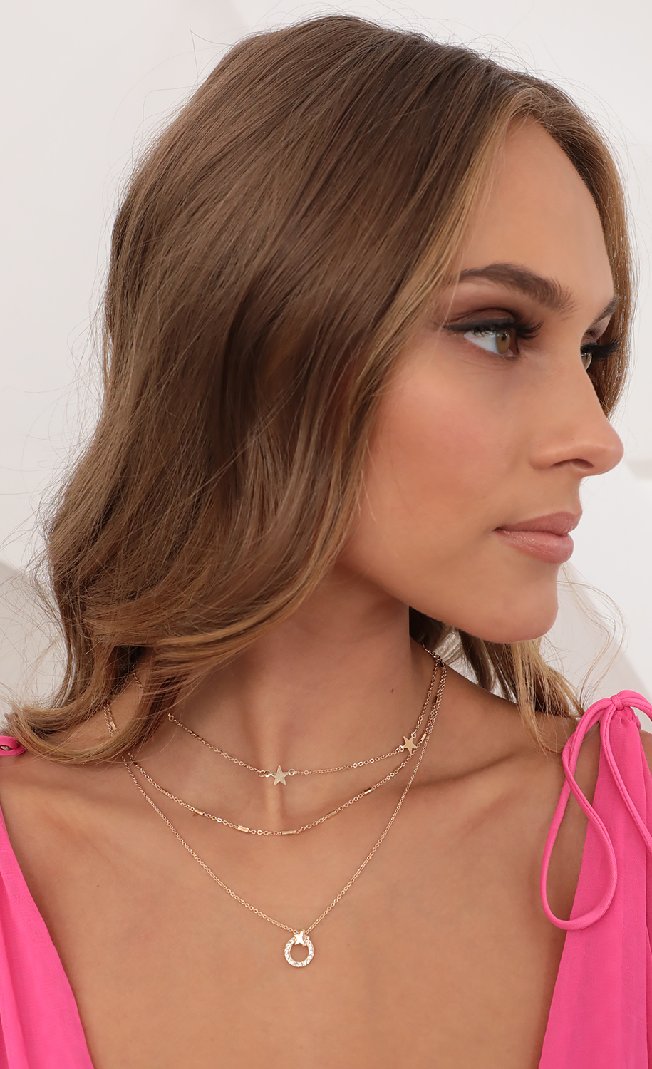 Kora Layered Star Necklace in Gold