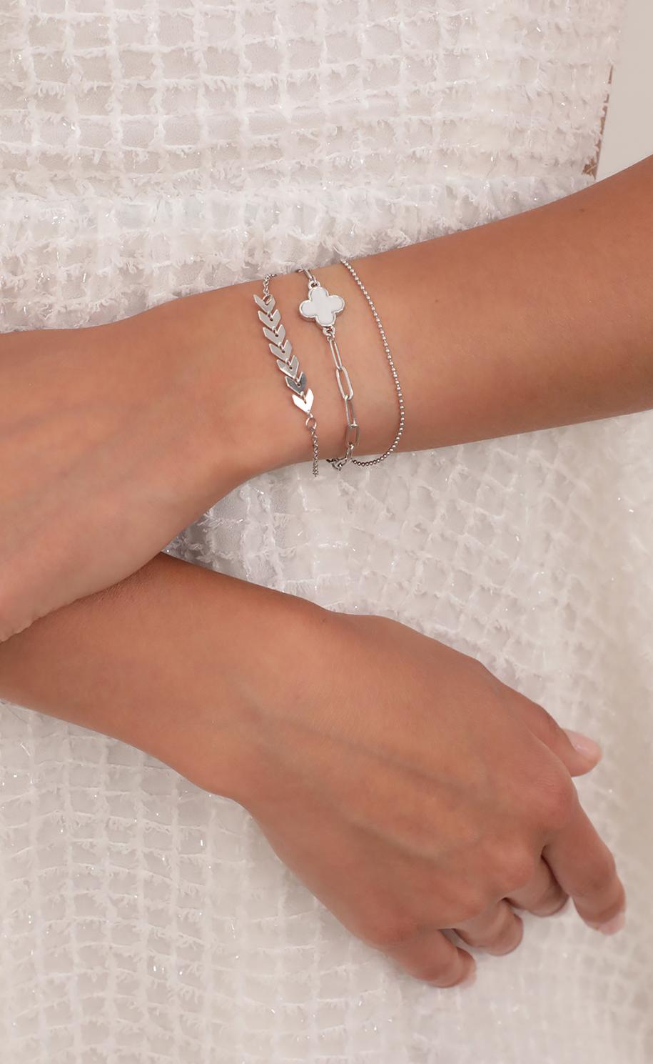 Kai Bracelet Trio Set in Silver