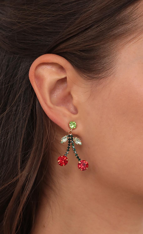 Sweet Cherries Drop Earrings