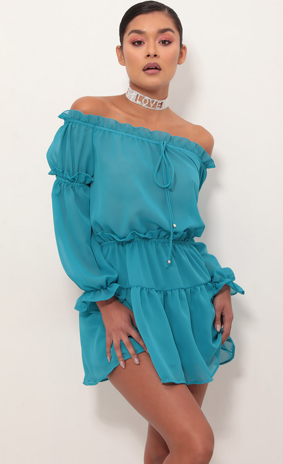 Wild Thoughts Off The Shoulder Dress