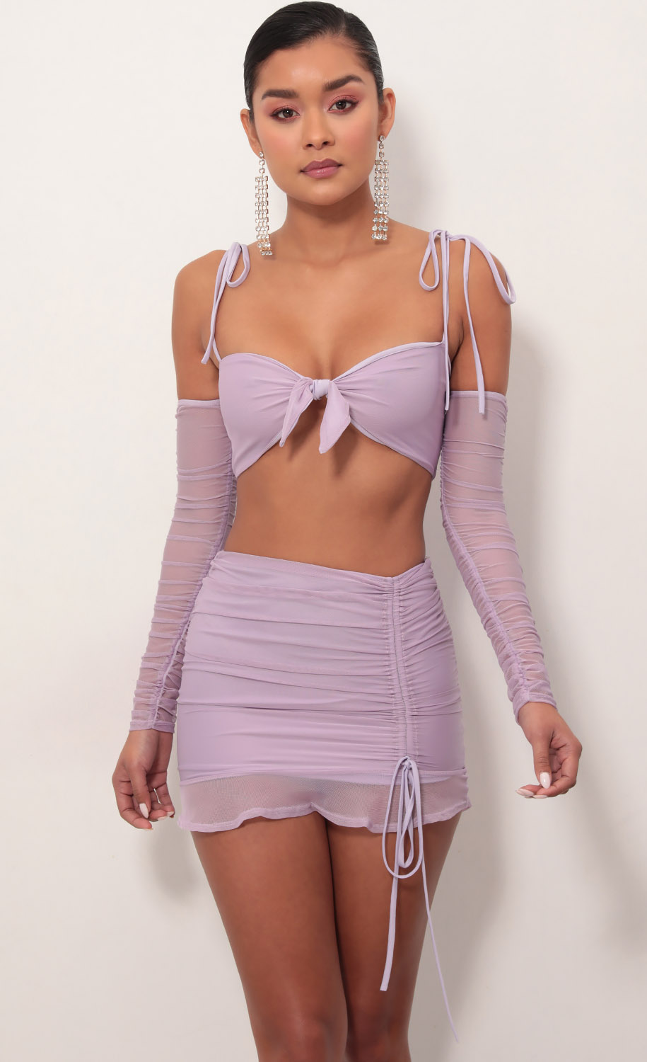 Luciana Two Piece Set in Lavender