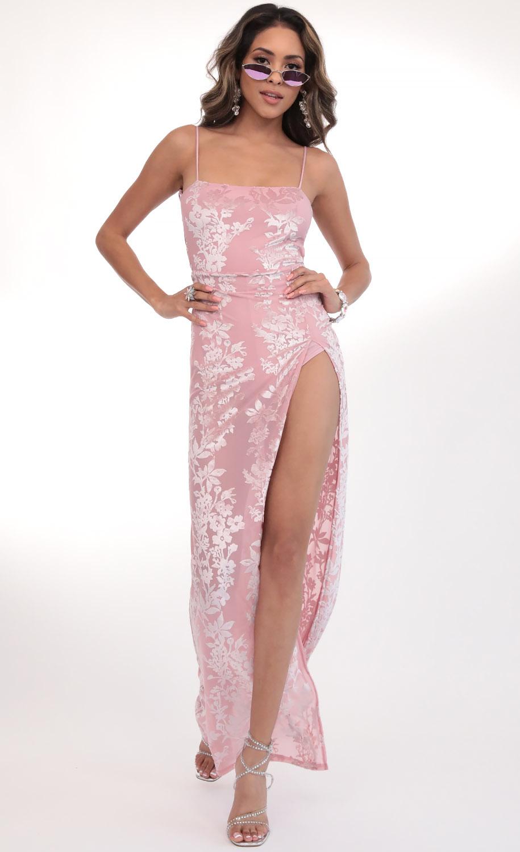 Giana Velvet Rose Maxi in Pink