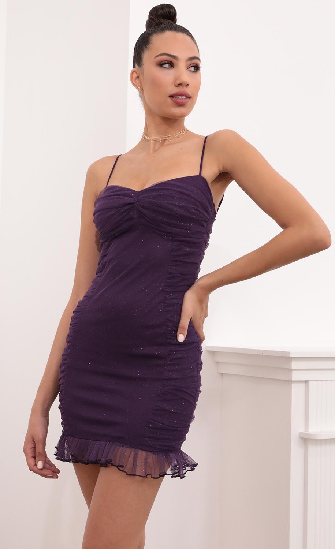 Anine Shimmer Mesh in Purple