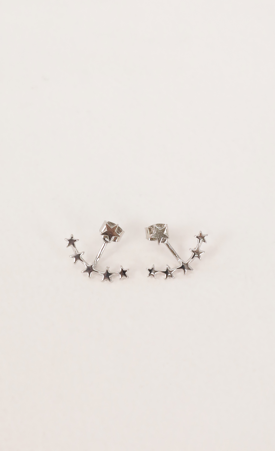 Floating Stars Ear Jacket in Silver