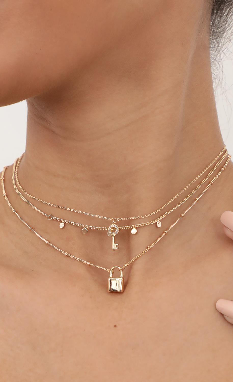 Locket Trio Necklace Set