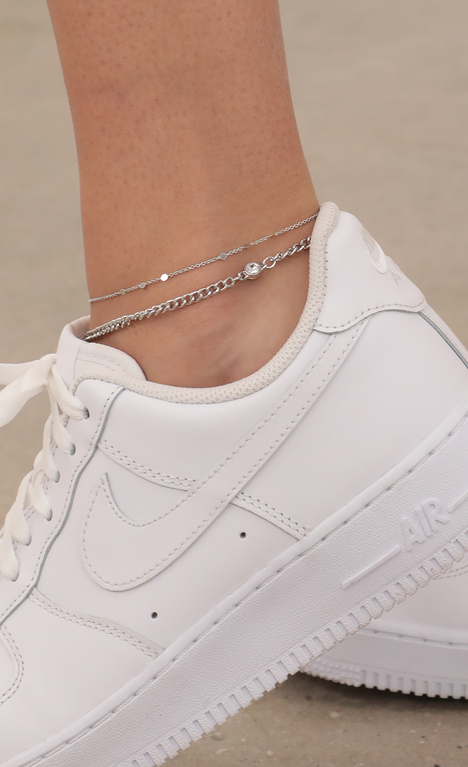 Adeline Double Layer Anklet Set