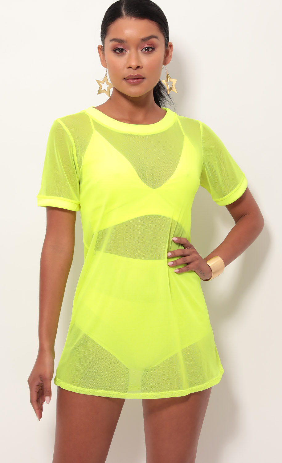 Neon Yellow Edge Three Piece Set