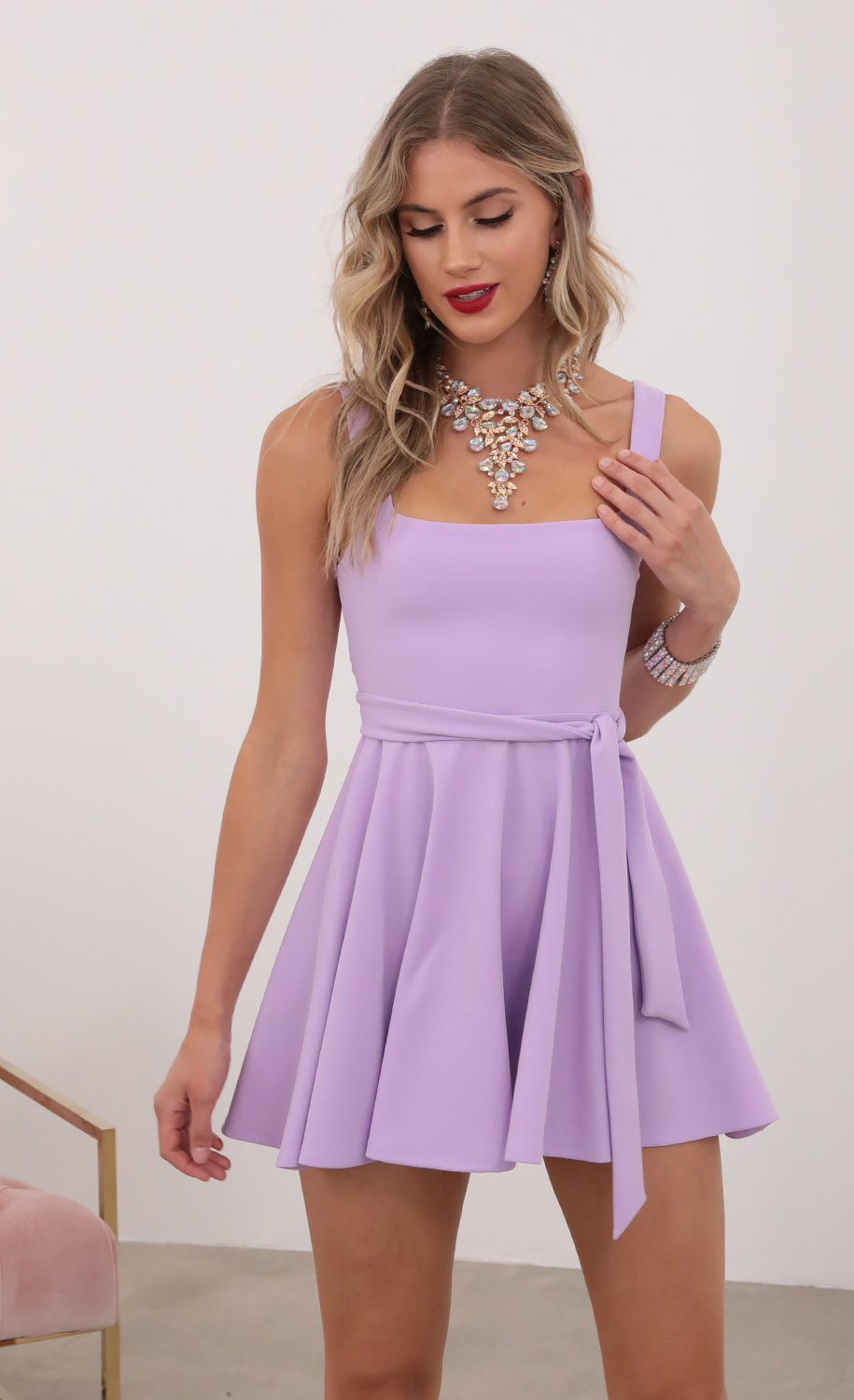 Key West A-line Dress in Lavender