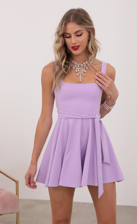 Key West A-line Dress in Lavender